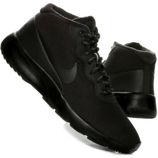ad3dcf9714c67 Details about Nike Mens Tanjun Chukka Mid Fashion Sports Trainer Water  Repellent All Black