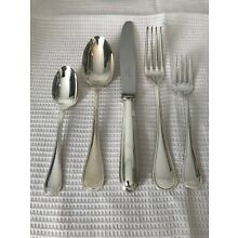 """Christofle France Silverplate 1890 Flatware       5 pc PLACE SETTING """"Perles"""""""