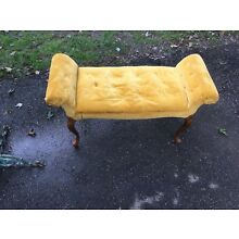 upholstered  OTTOMAN OR BENCH SMALL LOVESEAT 40 IN WIDE 16 DEEP 23 TALL