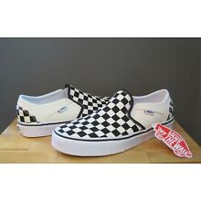 Vans Women Checkerboard Black/Off White Asher Slip On 7 7.5, 8, 8.5, 9, 9.5 NWOB