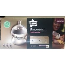Tommee Tippee Closer To Nature 3-Pack Baby Feeding Bottle Clear 5 Oz