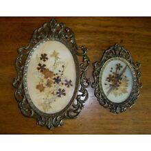 Set of 2 Vintage ACTION Metal Ornate Victorian Picture Frames Italy Dried Flower