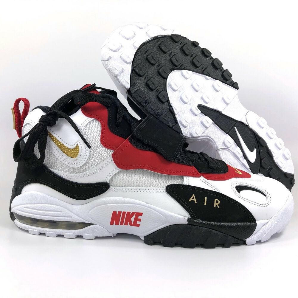 timeless design bcbda 3ed0a Details about Nike Air Max Speed Turf Marino White Metallic Gold Black Red  525225-101 Mens 11