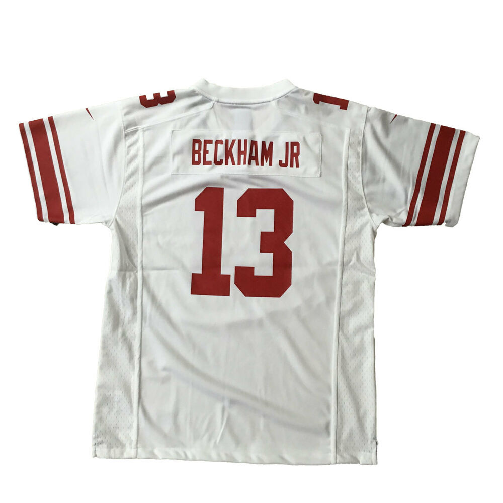 24a6ec62f Details about Odell Beckham Jersey New York Giants White Youth XL 18/20  Official NFL NEW Nike