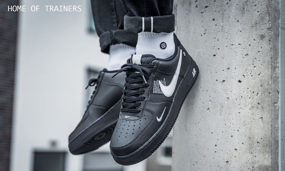 designer fashion 02c10 efd2e Details about Nike Air Force 1  07 LV8 Utility Black White black Men s  Trainers All Sizes