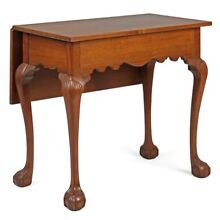 American Chippendale Antique One-Leaf Sideboard Game Table Console, 18th Century