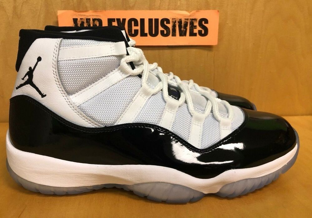 8e631bd4d46962 Details about Nike Air Jordan 11 Concord Retro XI OG White Black 378037-100  SHIPPING TODAY!!!
