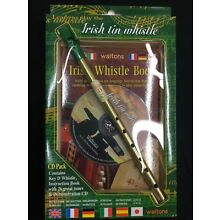 Irish Tin Whistle with Instruction Book with CD