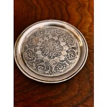 - EXOTIC PERSIAN 875 SILVER COASTER WITH TRADITIONAL ENGRAVED DECORATION [2]