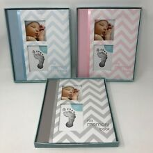 Pearhead Baby Memory Book w/ Clean-Touch Baby Safe Ink Pad Hand Foot Print