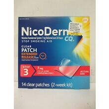 NICODERM CQ NICOTINE CLEAR PATCH STEP 3 - 7mg 14 PATCHES EXP: 2/19  RC 9041