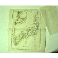 original Map of Japan from 1877 printing 9th Edition Encyclopedia Britannica