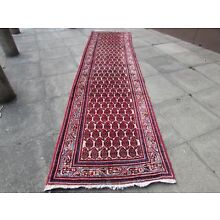 Old Traditional Hand Made Persian Rugs Oriental Wool Red Long Runner 415x105cm