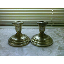 Vintage F.B. Silverplate Candle Holders