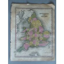 1824 MAP ENGLAND AND WALES  ANTHONY FINLEY