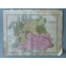 1824 MAP GERMANY ANTHONY FINLEY