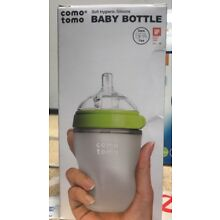 Comotomo Baby Bottle, Single Pack, 8 Oz Green