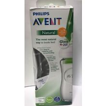 Philips Avent Natural Glass Baby Bottle, 8oz, 1pk, SCF703/17 1 Piece SCF703/17