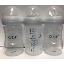 Philips Avent Natural Baby Bottle Clear 9oz 3-pack Anti-colic Feeding Bottles