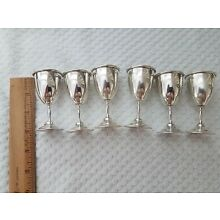 Lot of 6 Small Sterling Silver Cups Cordial Glasses Esco