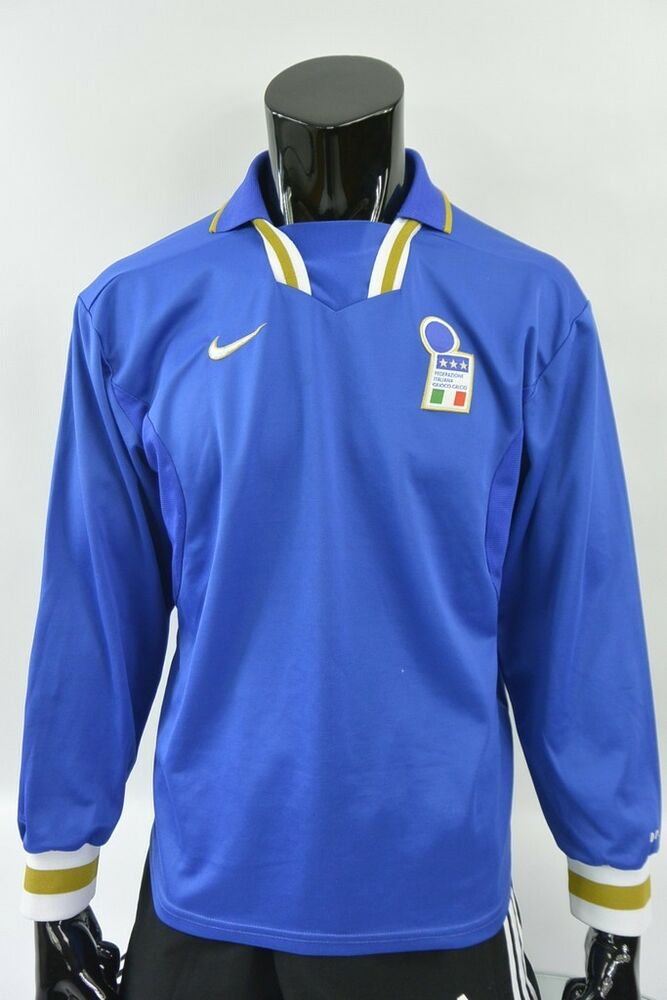4cc9513d88d Details about Nike ITALIA 1996-97 Euro 96 Italy Home Shirt Long Sleeve SIZE  L (adults)