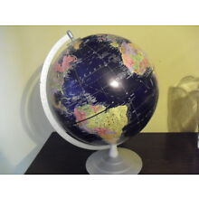 """World Globe 16"""" Tall Made In USA Geography-FREE SHIPPING"""