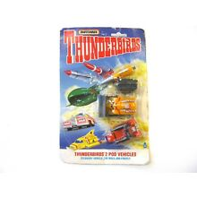 VINTAGE MATCHBOX THUNDERBIRDS 2 POD VEHICLES Recovery Vehicle/The Mole/ Firefly