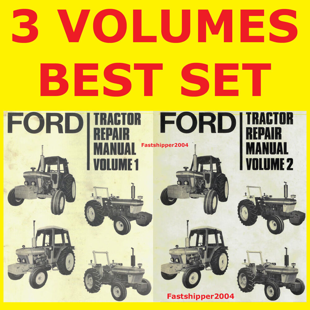 Ford 2610 3610 4110 4610 5610 6610 6710 7610 7710 Tractor Service Manual  DVDFAST | eBay