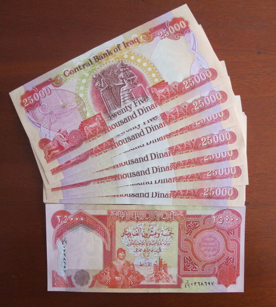 Details About 200 000 New Iraqi Dinar Uncirculated 8 X 25 Iqd