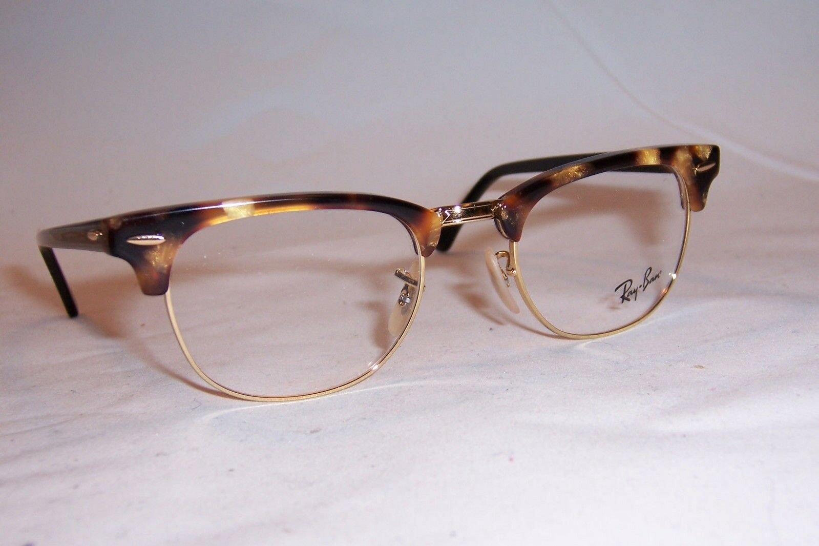 57beacd6beded ... EAN 8053672357240 product image for Authentic Ray Ban Rx 5154  Clubmaster 5494 Brown Havana Gold Eyeglasses ...