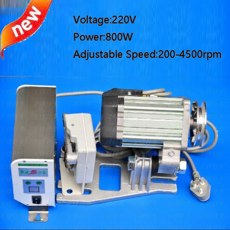 Details about 220V 800W Speed Brushless Servo Motor for Sewing Machine + Needle Holder 4500rpm