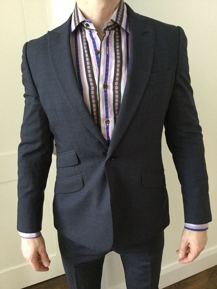 Savile Row Company Mid Blue Bengal Stripe Classic Fit Shirt Double Cuff