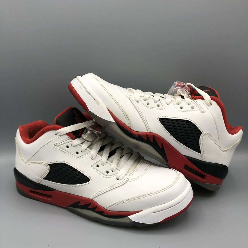 size 40 1a6e0 d48bd Details about Nike Air Jordan Retro V Fire Red Low Size 7y 314338 101 Bred  Chicago Concord XI