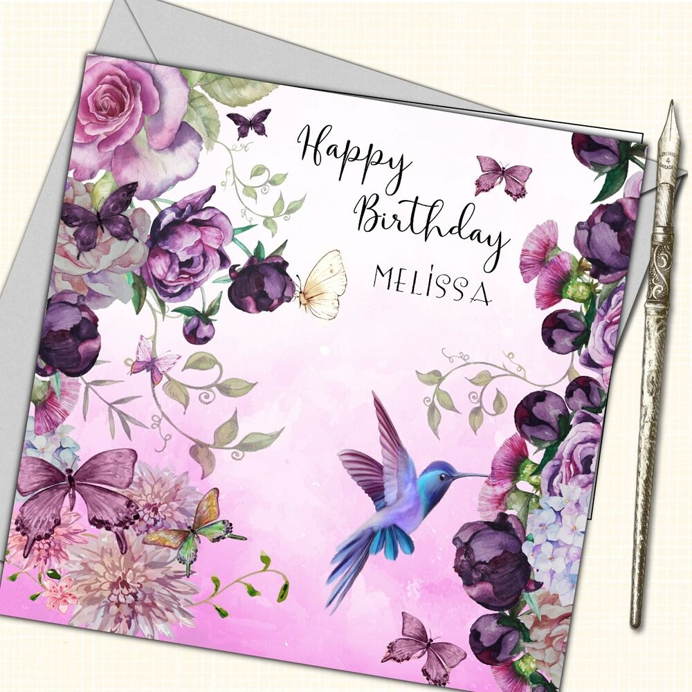 Details About Personalised Birthday Card Mother Daughter Sister Friend 30th 40th 50th Flowers