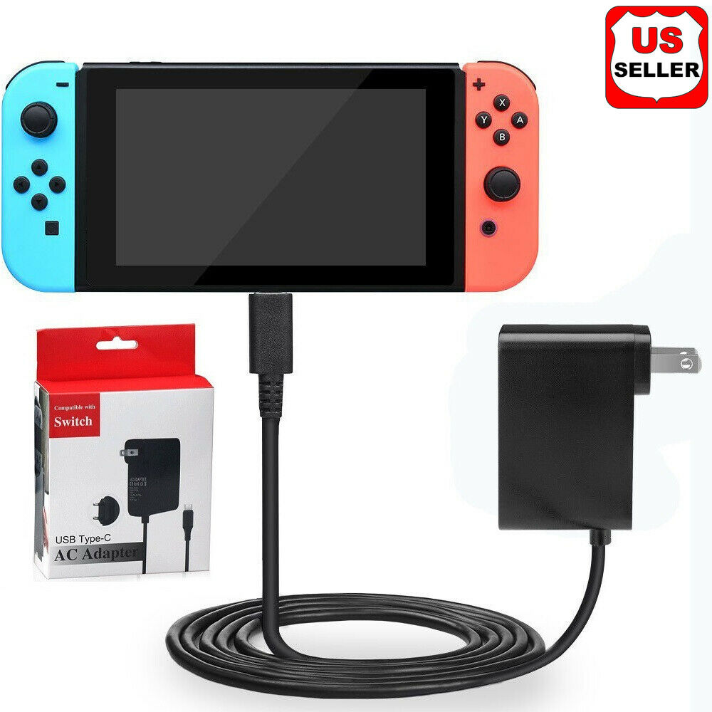 AC Adapter Power Supply For Nintendo Switch Wall & Travel