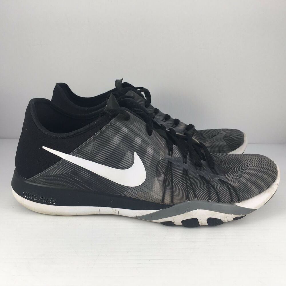 a563425d0c82 Details about NIKE Free TR 6 Women US 9 Print Black Grey White Training  Shoes 833424-001