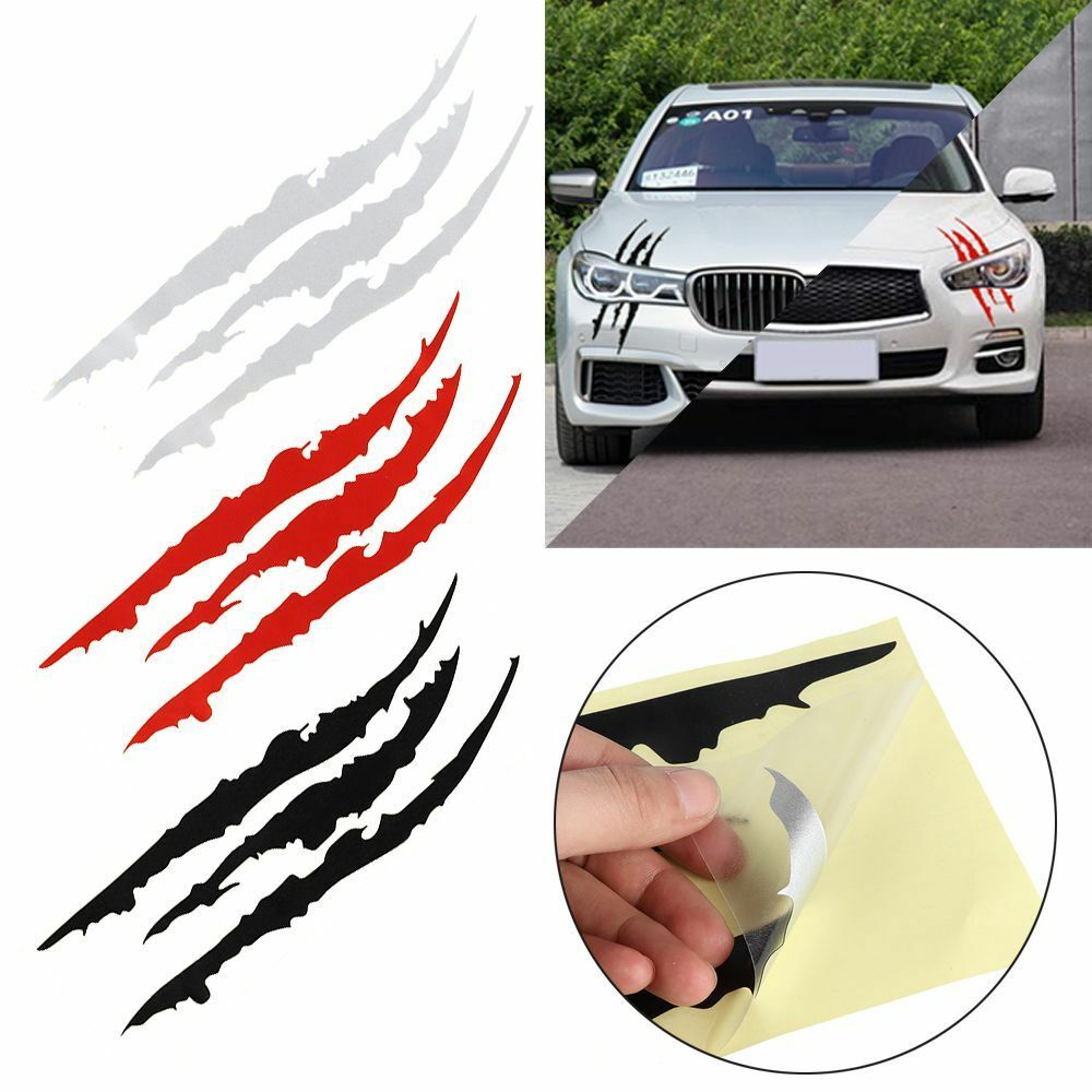 Details about car reflective monster sticker scratch stripe claw auto headlight vinyl decal cn