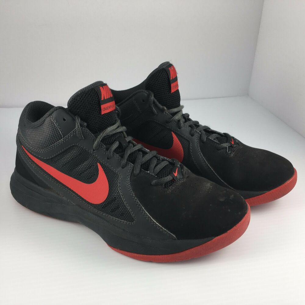 new concept 130ff 3419b Details about Mens Size 7 Nike Overplay VIII 8 Basketball Shoes Red   Black  643168-007