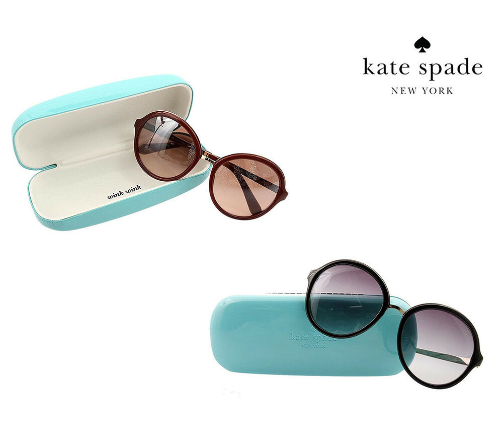 bbfa5adaf0 Details about NWT KATE SPADE NEW YORK Annabeth Sunglasses Round Lens  Gradient Black Brown NEW