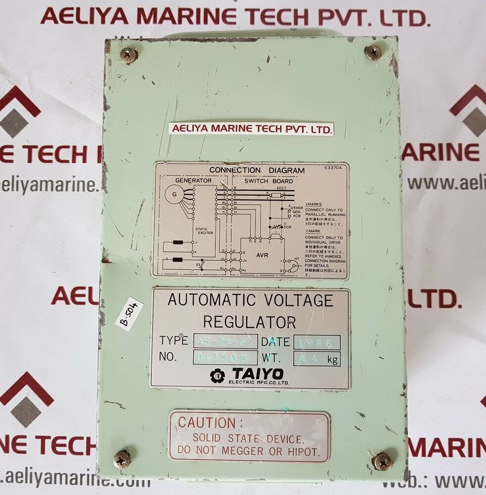 details about taiyo as-7a-2 automatic voltage regulator