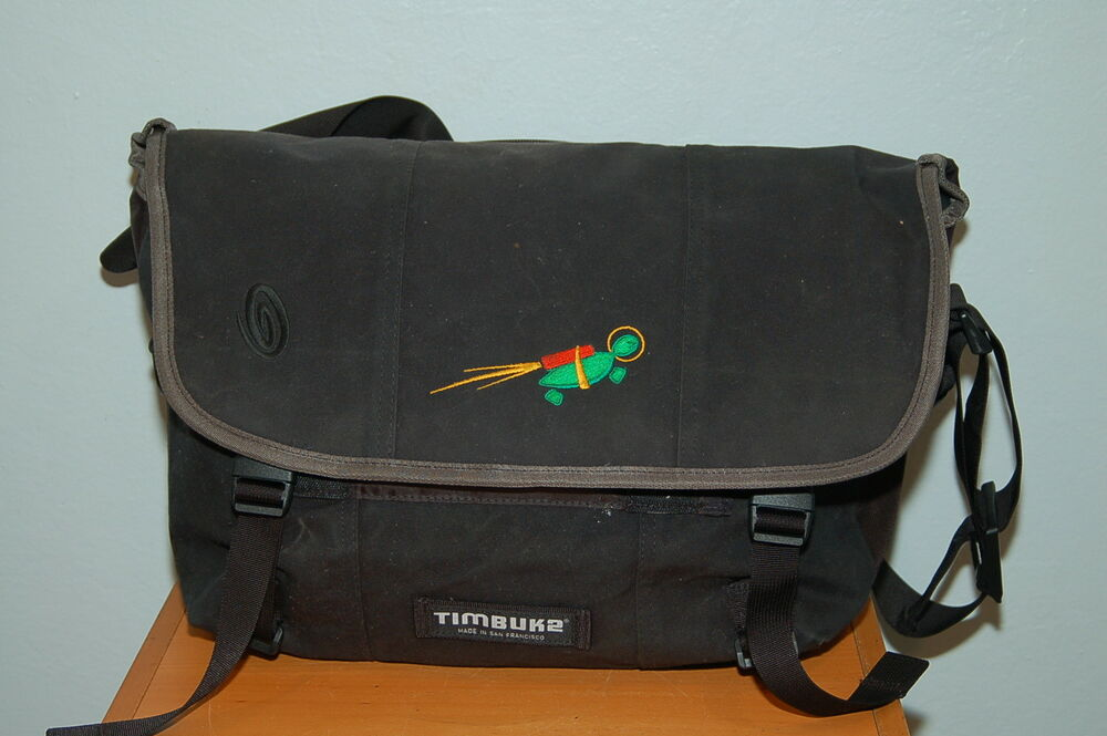 Details about Timbuk2 18 in Laptop Messenger Bag Cumulus Networks Turtle  Logo Made in SF USA 2b98eff09f