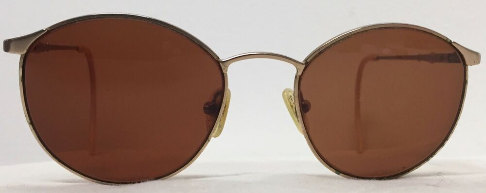 c7b3fb421e Details about VINTAGE GOLD TONE 50s - 60s ROUND AVIATOR STYLE GLACIER SUNGLASSES  MADE ITALY