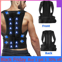 Kyпить For Men Women Adjustable Posture Corrector Low Back Support Shoulder Brace Belt на еВаy.соm