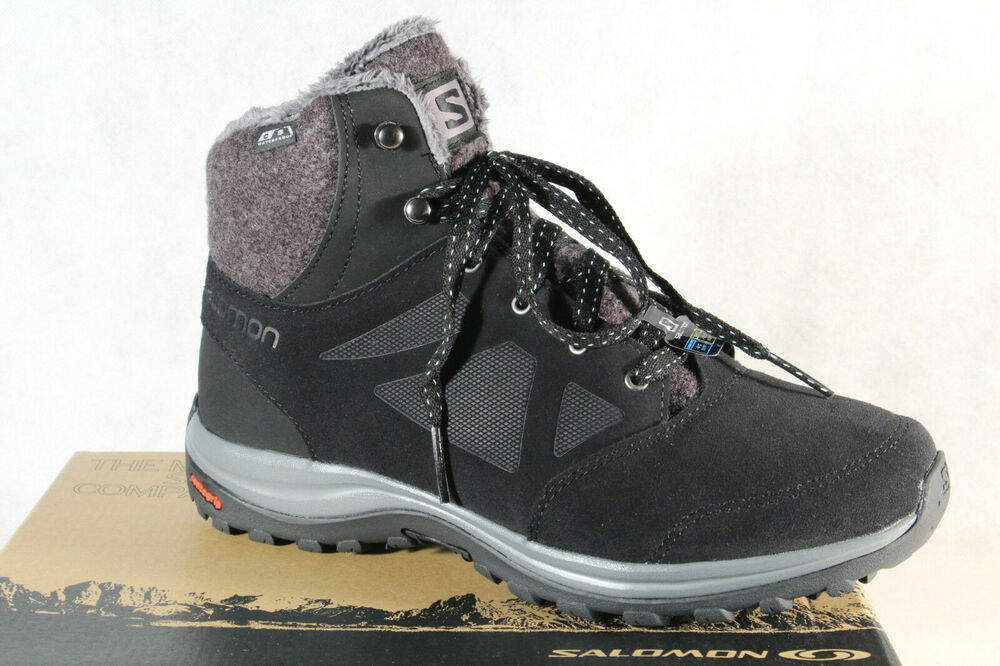 900e273f5d9db8 Salomon Ellipse Freeze CS WP Stiefel 406132 Boots schwarz CS Waterproof NEU