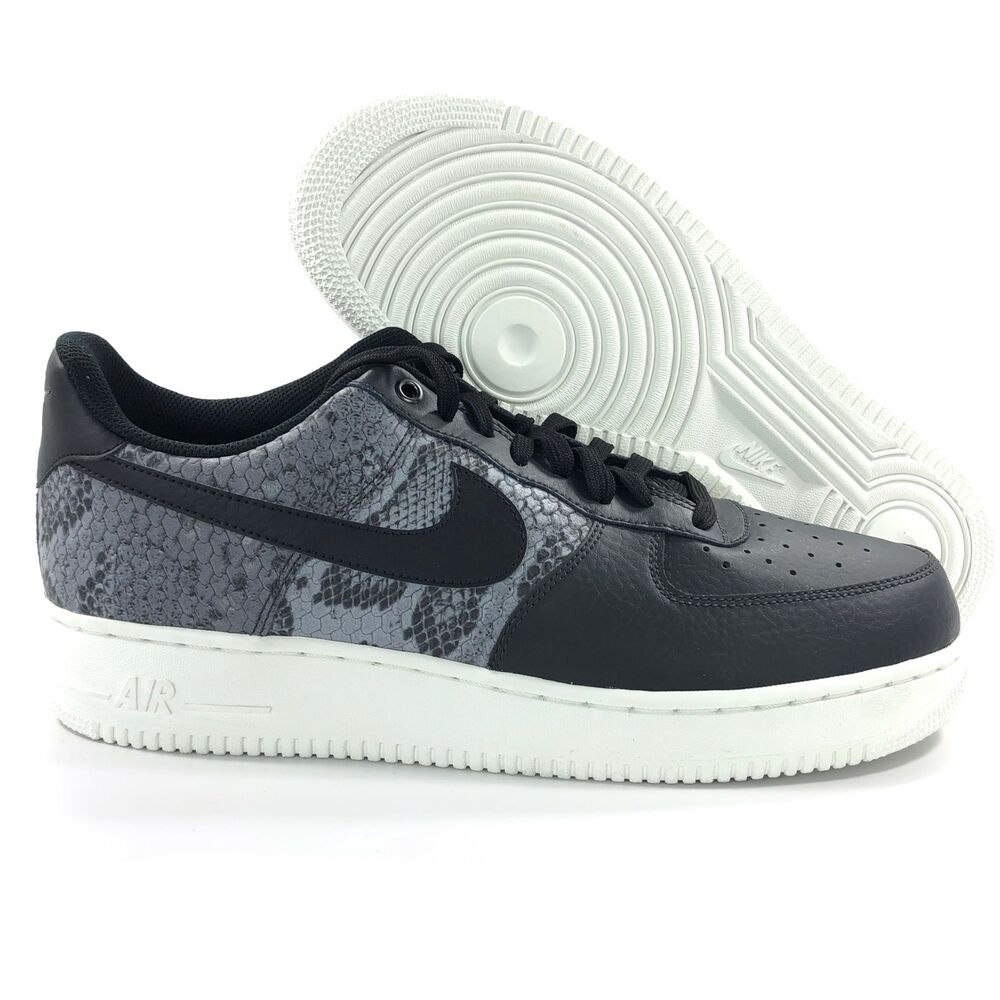 the best attitude de7f2 49cce Details about Nike Air Force 1 07 LV8 Low Snakeskin Black Grey White 823511-003  Mens 11
