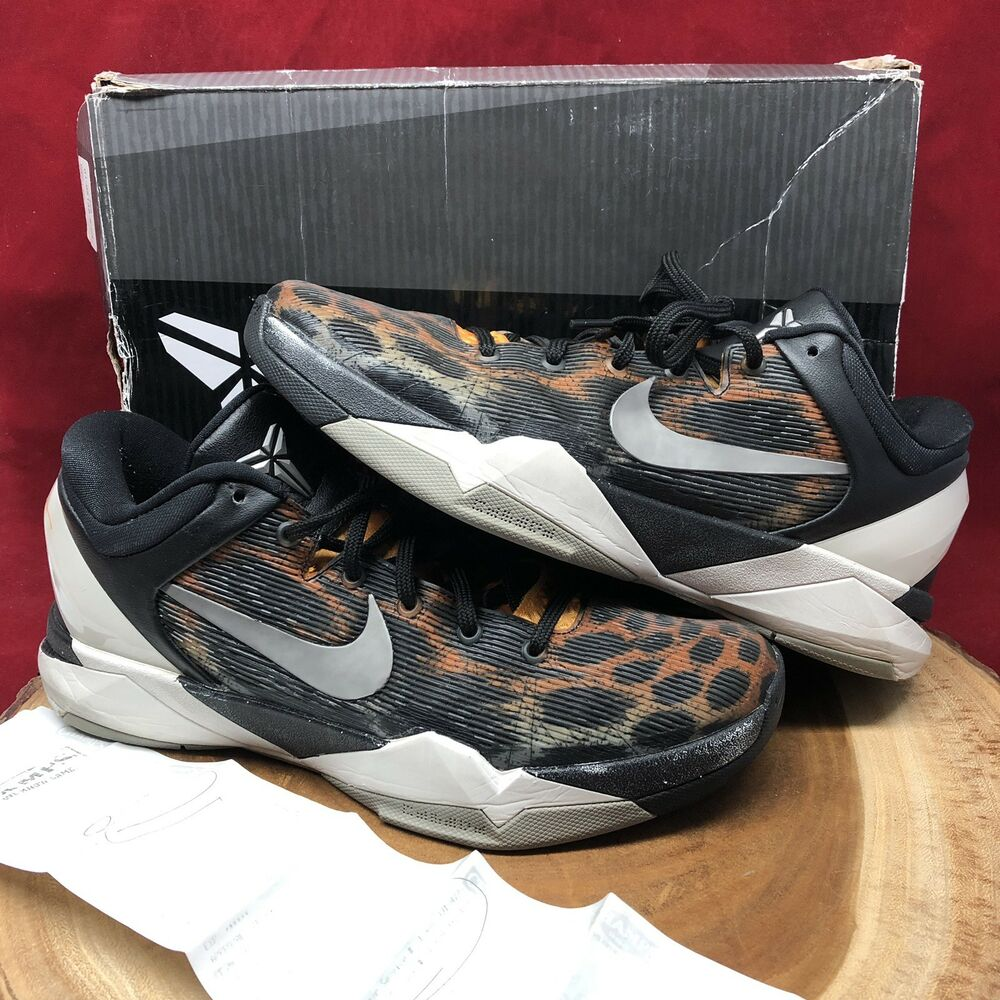 reputable site 6a8c2 aa67b Details about Nike Zoom Kobe VII System Cheetah Size 10 488371 800 Black  VIII