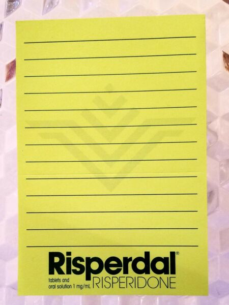 Risperdal Pharmaceutical Lined Sticky Note Pad 4