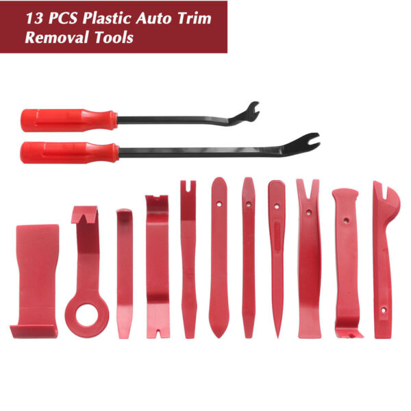 13pcs Car Trim Removal Tool Kit Set Door Panel Auto Dashboard Plastic Interior