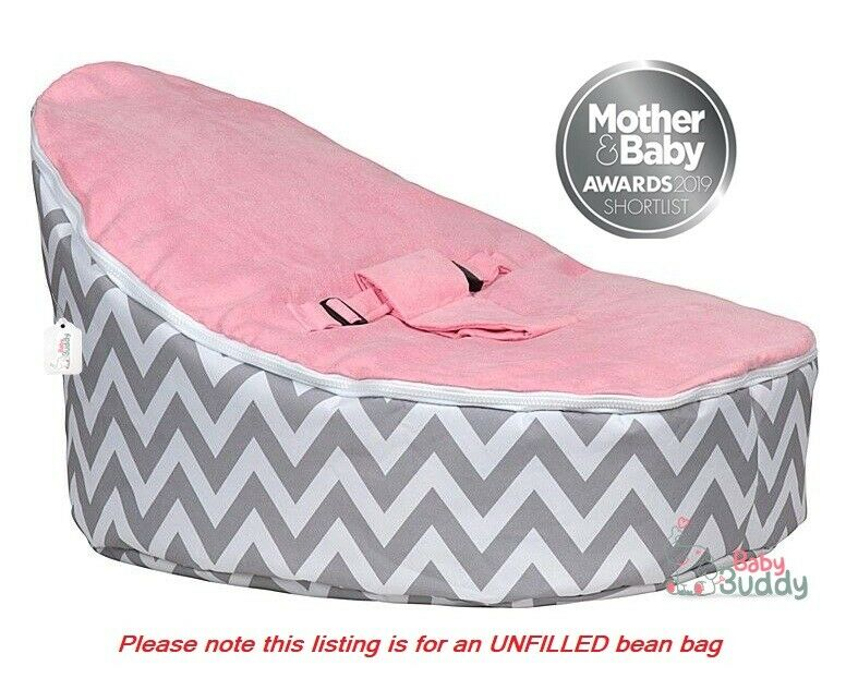 Baby Bean Bag Chair for Kids UNFILLED With 2 Covers & Harness ...