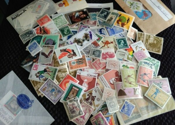 Assortment of 150 MINT Worldwide Foreign Stamps Collection - Lot